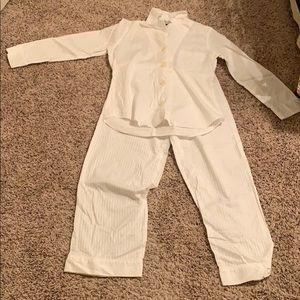 Ralph Lauren Button Up White Pajamas